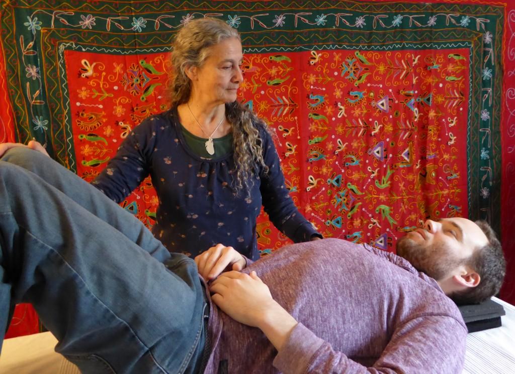 Refia Giving Alexander Technique Lesson Semi Supine